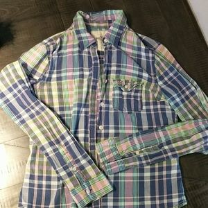 Hollister plaid button-up